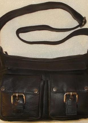 Мужская сумка *chesterfield* натуральная кожа