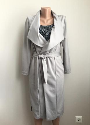 Лёгкое пальто-халат без подкладки
