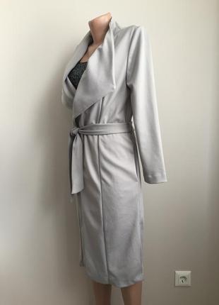 Лёгкое пальто-халат без подкладки2