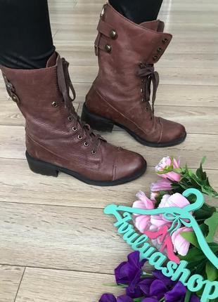 Удобные кожаные  ботинки стиль гранж, бренд sam edelman