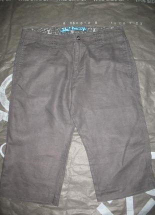 Мужские льняные шорты/бриджы