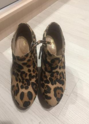 Леопардовые ботильоны
