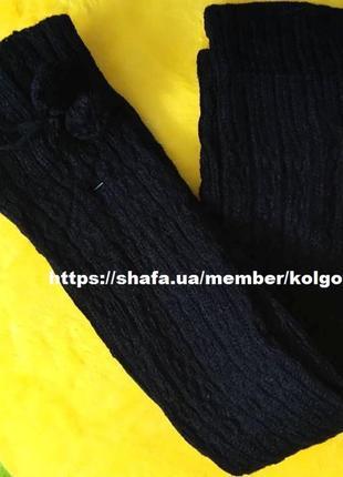 Гетри високі теплі чорні гетры высокие теплые черные довжина 60 см