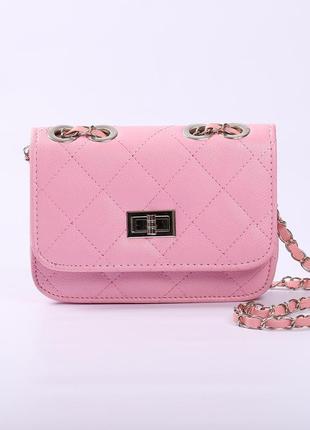 Красивая мини-сумочка, клатч на длинной ручке