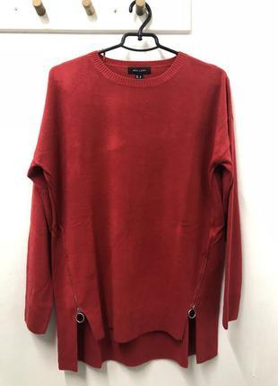 Длинный свитер очень мягкий с актуальным колечком new look