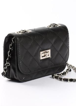 Красивая стеганная сумочка, клатч на длинной ручке