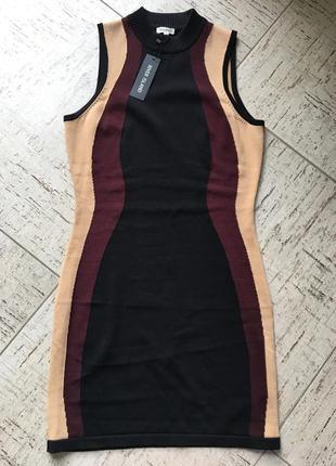 Платье бандажное облегающее силуетное нарядное