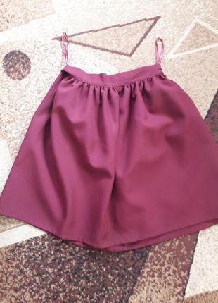 Новая юбочка цвета марсала