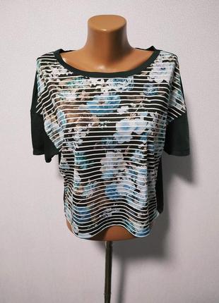 Стильная укороченная футболка / горячая цена/ скидки!