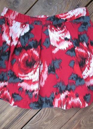 Яркая стильная юбка gap на подкладе, хлопок, на 8 лет, сост. отличное