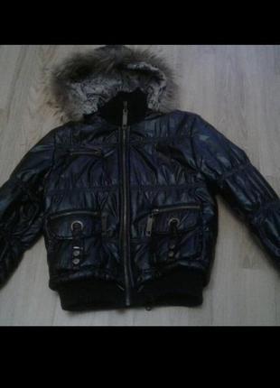 Курточка теплая осень зима черная