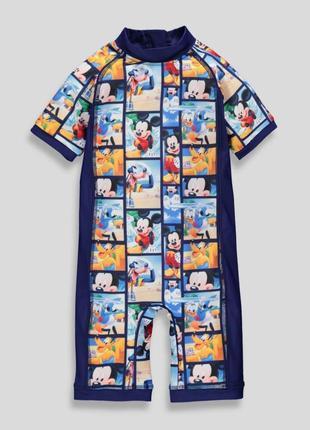 Купальный солнцезащитный костюм 3-6 мес matalan mickey mouse микки маус