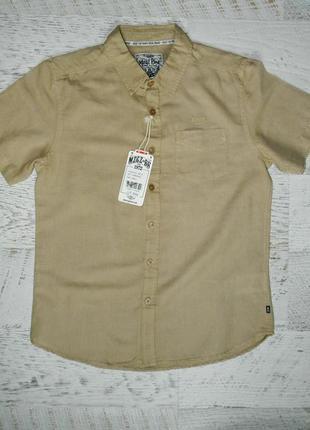 Летняя тонкая льняная мужская рубашка s