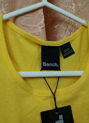 Ярко жёлтая спортивная майка bench хлопок 11-12 лет2