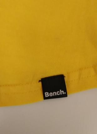 Ярко жёлтая спортивная майка bench хлопок 11-12 лет4