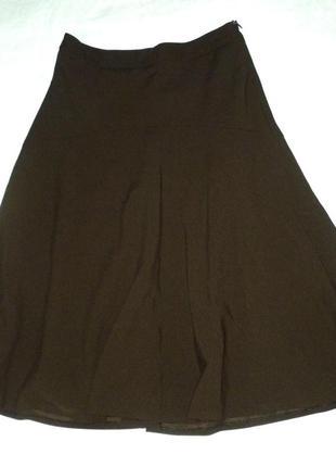Красивая юбка шоколадная клеш от бедра