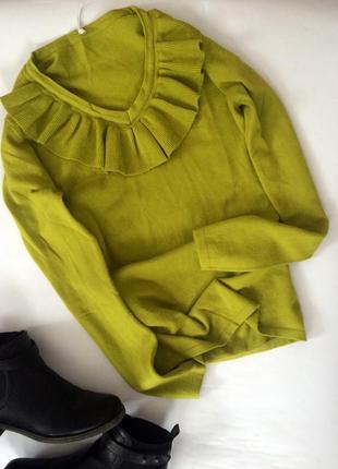 Крутой актуальный свитер с воланом джемпер кофта cos очень мягкий приятный к телу