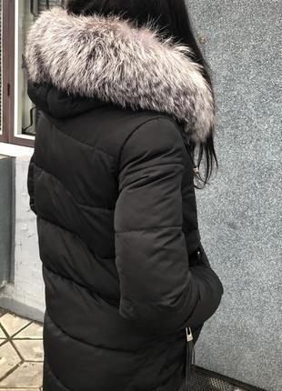 Зимняя куртка парка пуховик с натуральным мехом