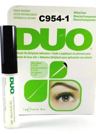 C954-1 белый клей для ресниц с витаминами 5 грамм, duo