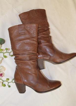 Сапоги весна осень sacha 37 размер кожаные италия