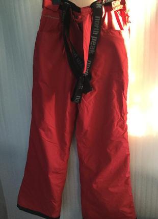 Лыжные штаны northpeak с подтяжками fine tex 40-42