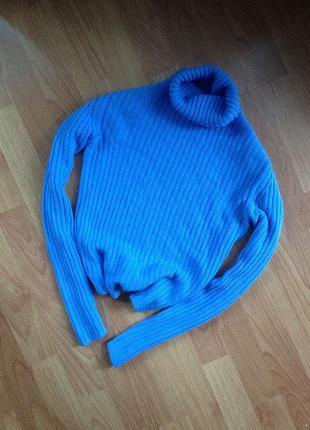 Яркий свитер/гольф в рубчик