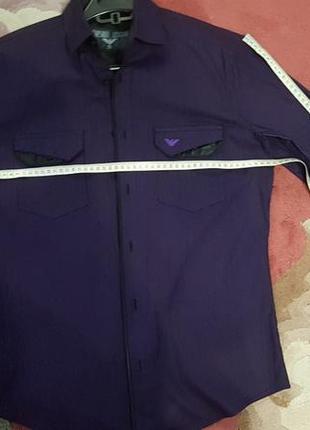 Оригинальная нарядная рубашка из хлопка мужская оригинал emporio armani