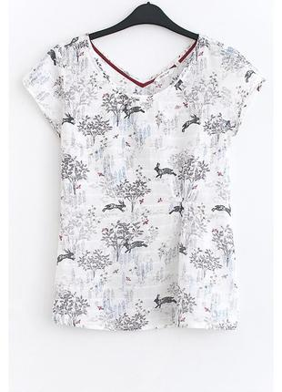 Крутая хлопковая футболка с кроликами white stuff • р-р м