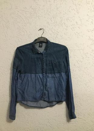 Джинсовая оригинальная рубашка