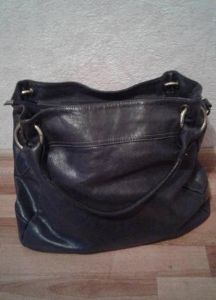 Большая сумка из натуральной кожи laura di maggio + подарок
