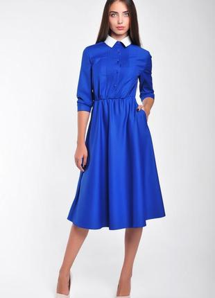 Платье с рубашечным верхом: р. 36,38,40