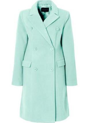 Распродажа в профиле! шикарное пальто мятного цвета
