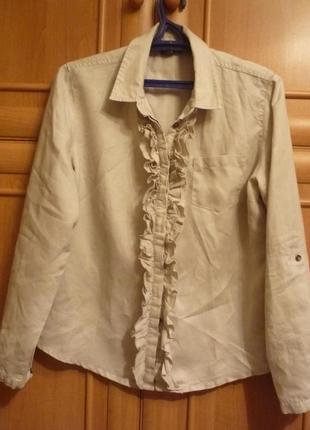 Шикарная натуральная льняная рубашка экостиль 100% лен stanfield