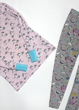 Пижама с единорогами 3-4 года, р.98-104