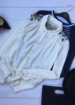 Шикарная блуза с вышивкой zara