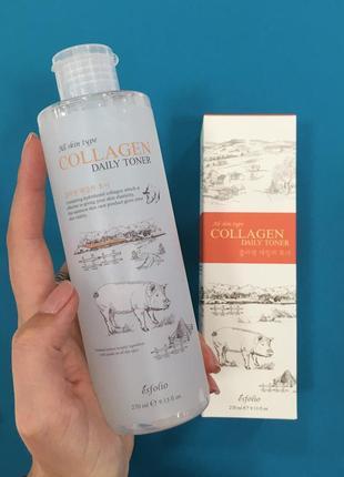 Коллагеновый тонер esfolio collagen daily toner