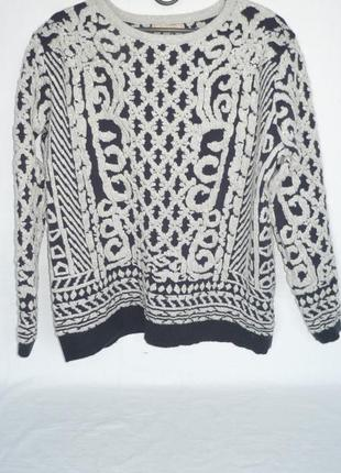 Тёплый мягкий объёмный свитер оверсайз кофта soky & soka италия