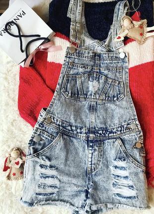Классный джинсовый комбинезон шорты от fb sister