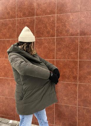 1936d182ba3b ... Зимний пуховик. женская куртка. new look. для беременных. длинная3 ...