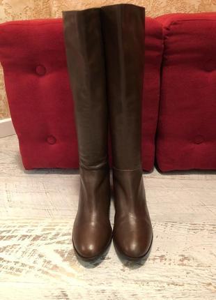 Високі чоботи із натуральної шкіри,від san marina,розмір 41
