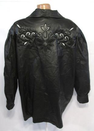 Новая курточка из натуральной кожи + вышивка