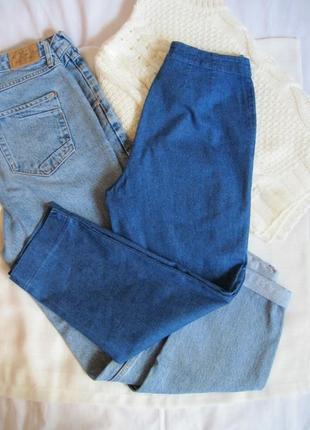 Винтажные джинсовые капри кюлоты высокая посадка next