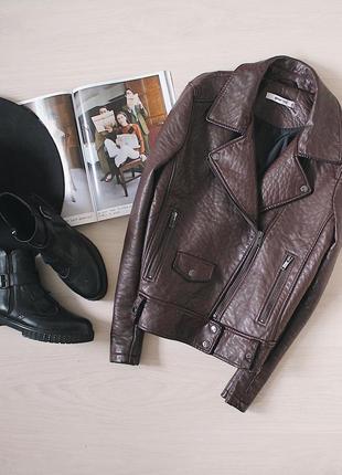 Крутая косуха из кожзама/кожанка/байкерская куртка