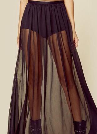 Прозрачная юбка фатин с шортами