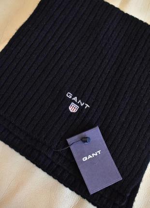 Vip – gant - мужской шерстяной  шарф – 191х23 см - новый