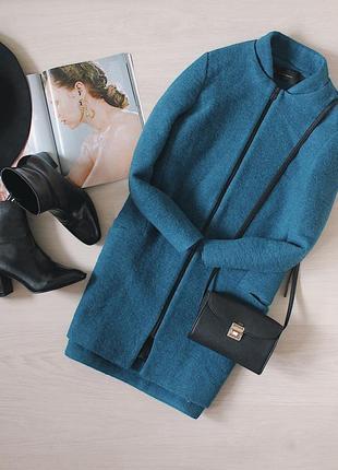 Шерстяное пальто-кокон от zara