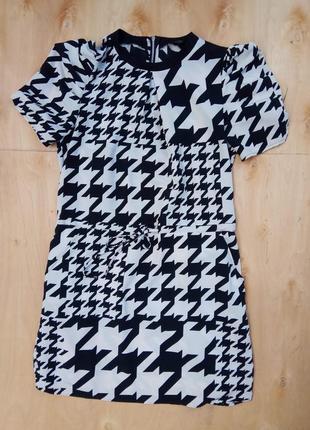 Платье некст next модный принт гусиные лапки