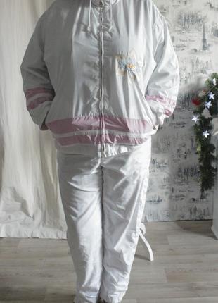 Спортивный костюм комбинированный бело-розовый от бренда bogner {xxl-52 размер}