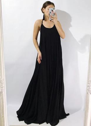 Платье плиссе свободного кроя