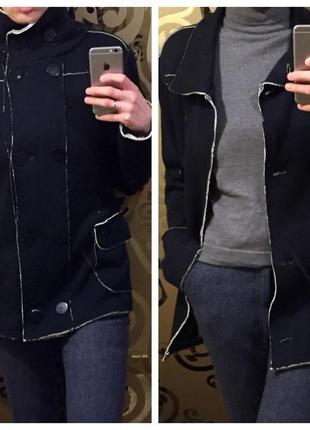 Кардиган весеннее пальто шерсть+хлопок премиальный бренд